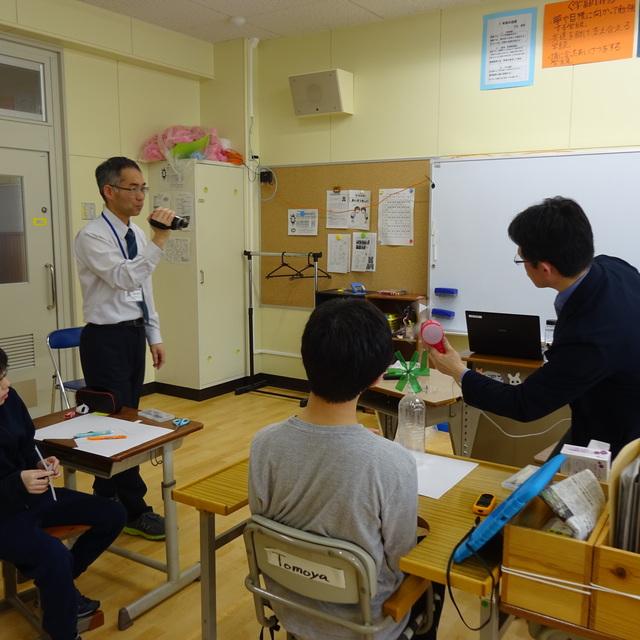 八戸第一養護学校で出前授業を行いました。