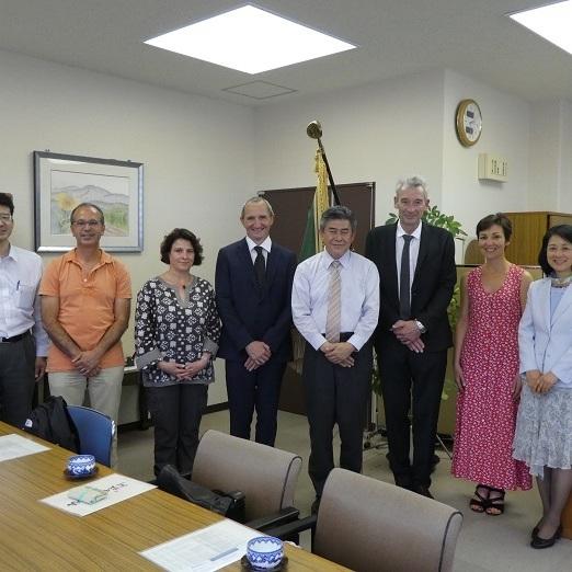 フランスからの教員5名が本校を訪問しました