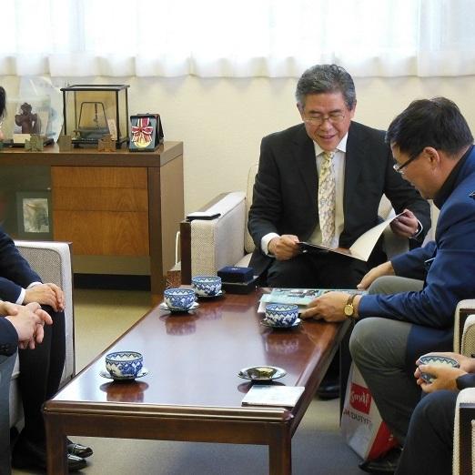 新モンゴル学園理事長が八戸高専を訪問しました(2017.10.13)